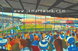 sealand road   on matchday print